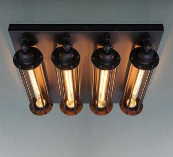 Luksusowe Vintage antyczne żelaza Edison lampy sufitowe lampa przemysłowa osobowość dla Loft Bar kawy E27 restauracja szybka wysyłka
