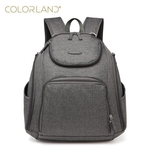 2385a90572 Colorland Ergonomics baby diaper bag backpack waterproof mother Maternity  Handbag baby care nappy changing back pack