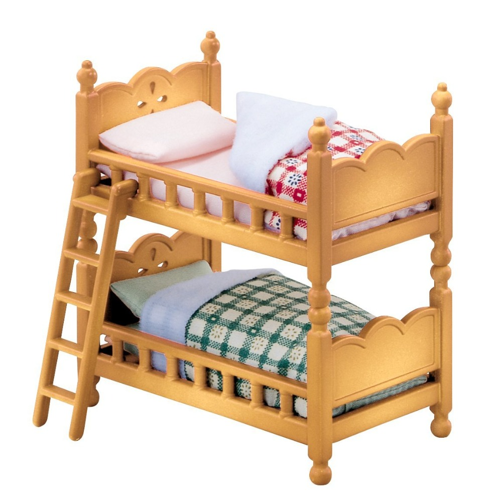 Cute Sylvanian Families Miniature Bunk Bed Dollhouse
