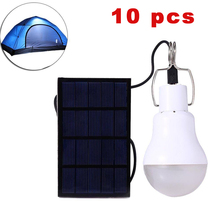 10 pcs S-1200 15W 130LM Portable LED Bulb Garden Solar Powered Light Charged Solar Energy Ideal Lamp Camping Tent Fishing Lamp