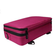 Unisex Cosmetic Bag Solid Nylon Three Portable Professional Makeup Case High Quality Cosmetics Box Bolso Maquillaje #7123