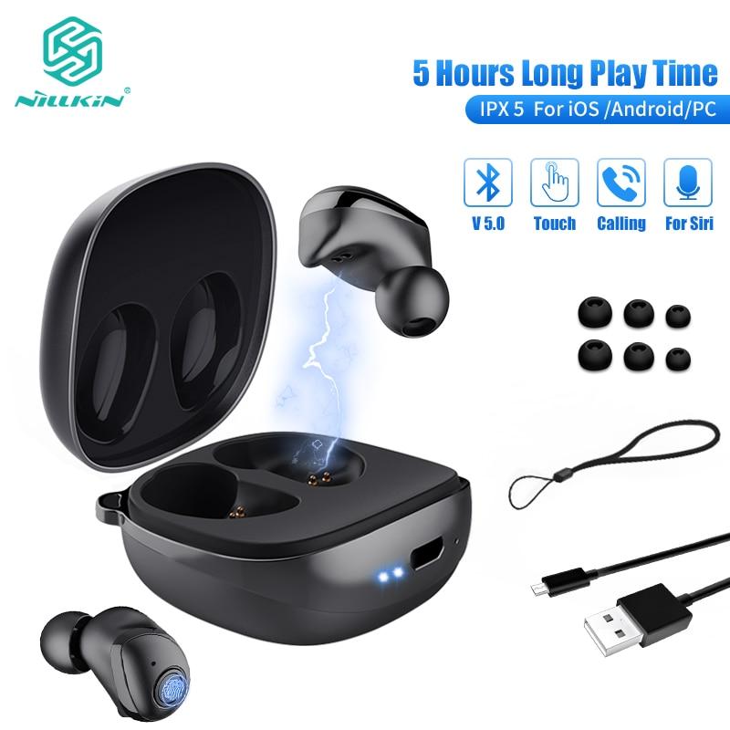 NILLKIN True Wireless Earbuds TWS Bluetooth 5 0 earphone IPX5 Sport Head set stereo Auto Pair