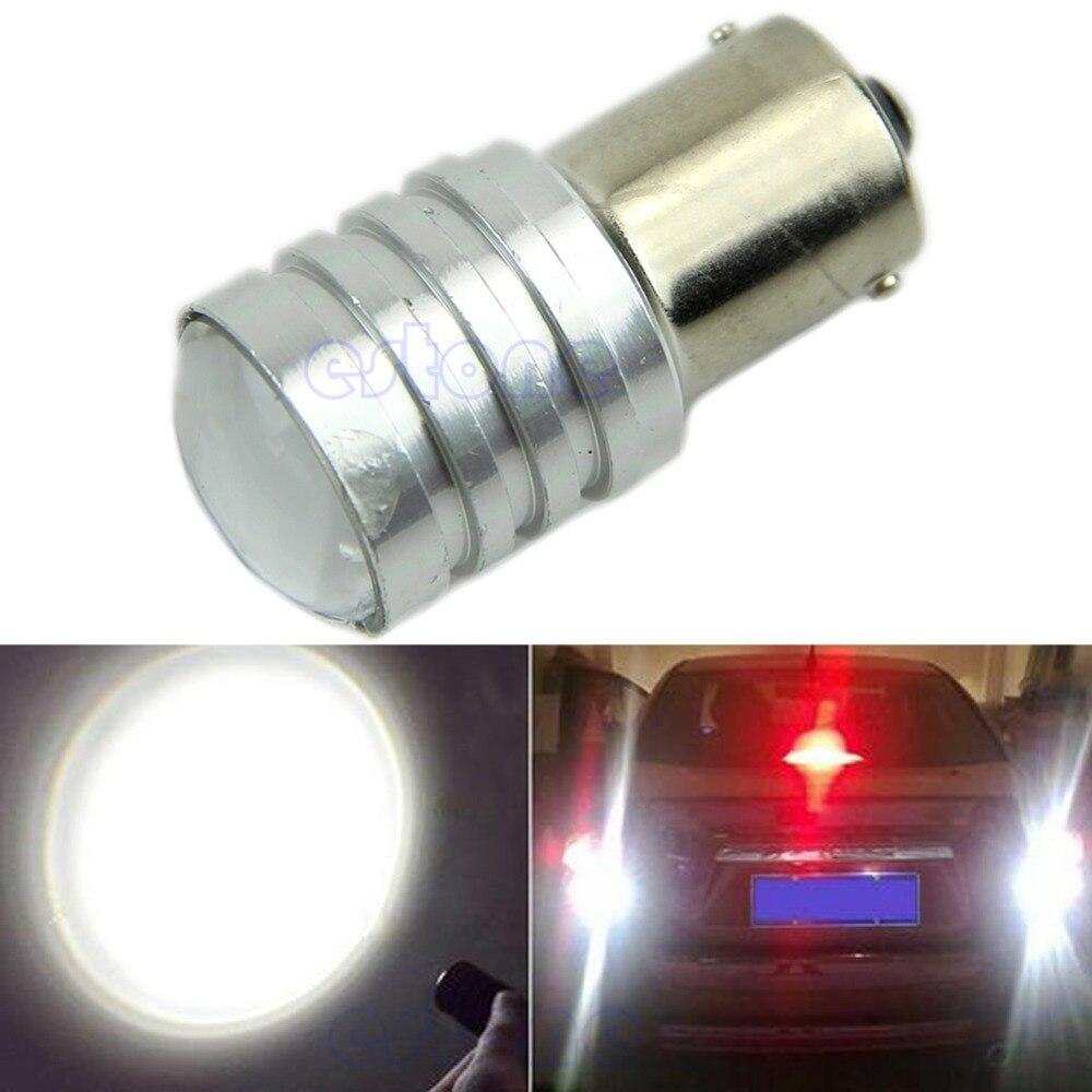 1Pc Super Bright White Q5 1156 BA15S P21W 12V LED Car Bulb Reverse Light New 2x 1156 ba15s p21w w cree chips q5 5w white led car reverse bulb for alfa romeo 155 156 164