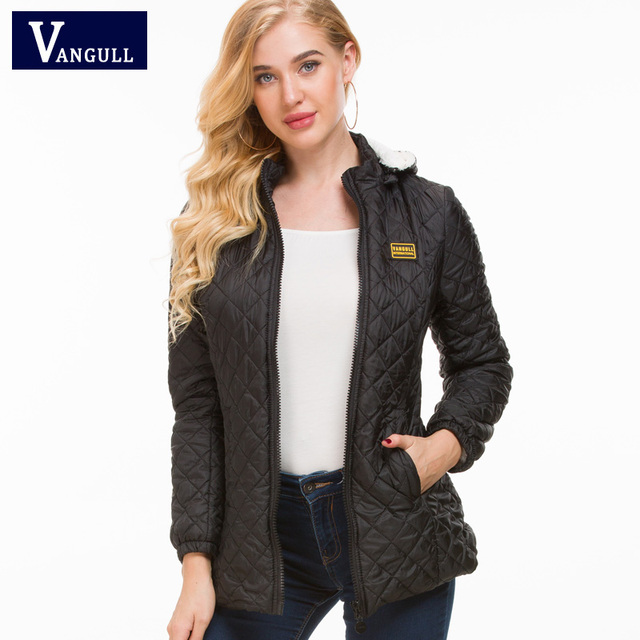 Vangull Winter Jacket Women Thick Warm Hooded Parka 2018 New Slim Down cotton clothing Long sleeve Coat Female Autumn Outerwear 2