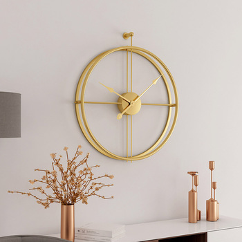 European Style Silent Wall Clock Modern Design For Home Office Decorative Hanging Wall Watch Clocks Hot Gift gold metal duvar saati