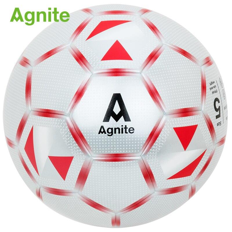 Agnite 2018 officiel de football professionnel jeu balle adulte vêtements de sport-résistant football PU No.5 d'intérieur ou extérieur de ballon de football