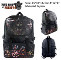 Game Five Nights At Freddy's Characters FNAF Backpack School Shoulder Bag Black