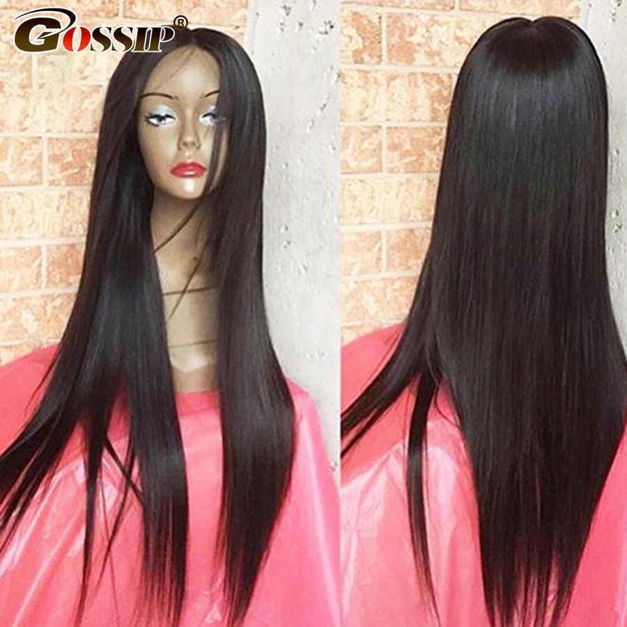 Densidad 250, peluca Frontal de encaje 360, pelucas de cabello humano brasileño liso Frontal de encaje, peluca de cabello humano Remy 360, peluca Frontal de encaje de 6 pulgadas