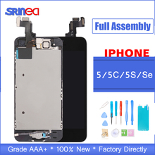 Black/White Full Assembly LCD Display Digitizer for iPhone 5 S C Se AAA LCD Touch Replacement Screen i Phone 5S 5C No Dead Pixel 100% brand new no dead pixel screen for iphone 5 5s 5c lcd display touch screen digitizer assembly replacement black and white