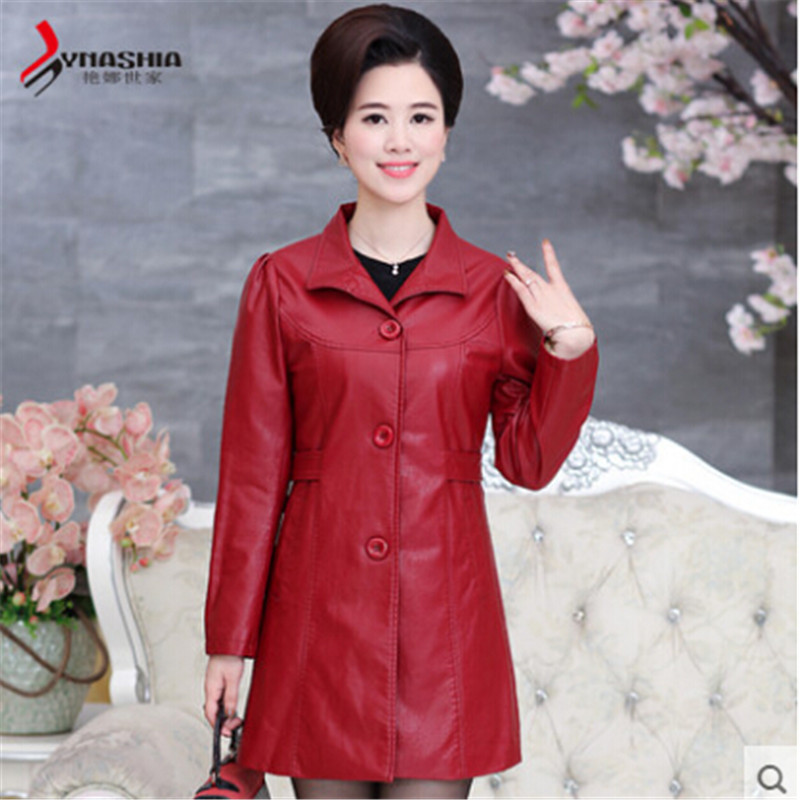 New Autumn And Winter Women Leather Jackets And Coats Genuine Leather Long Female Leather Jackets Slim Fit A2560