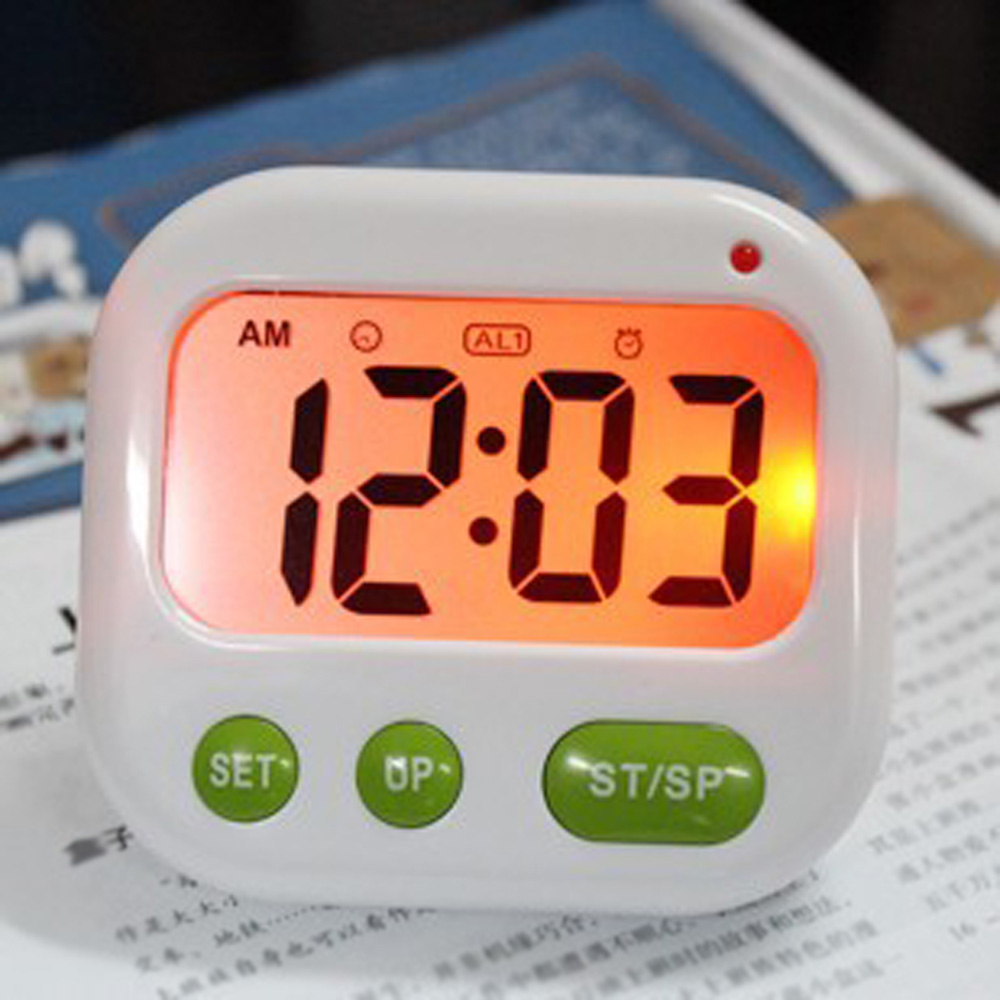 Led Alarm Clock Dual Vibration Digital Timer and Clock Silent Kitchen Studying Cooking Gift