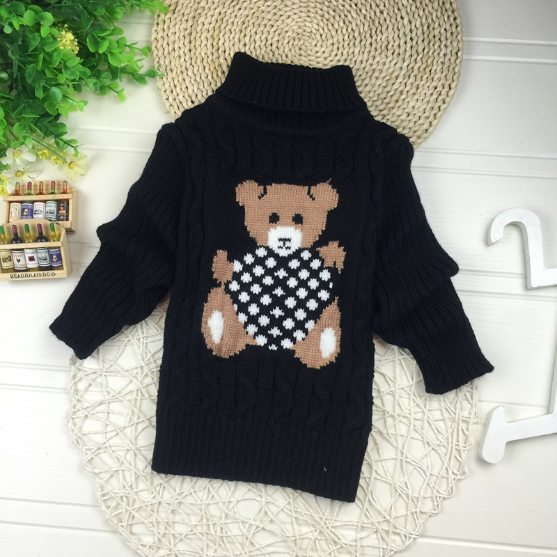 Big Size 2T-7T pullover winter autumn infant baby sweater boy girl child knitted sweater turtleneck sweater children outerwear 6