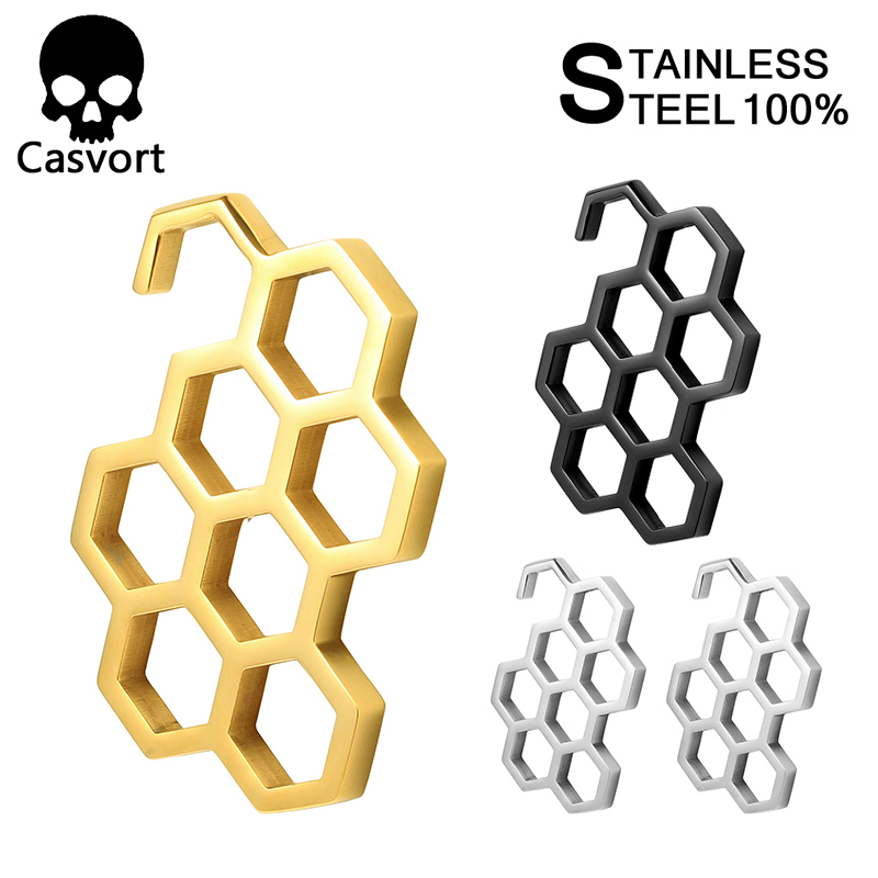 Casvort New Arrival Heavy Ear Weight 316 L Stainless Steel Ear Gauges Piercing Tunnels Body Jewelry 2pcs Lot Pair Selling(China)