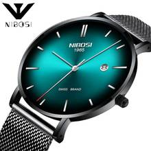 NIBOSI Fashion Mens Business Male Watch Classic Quartz Stainless Steel Clock Wristwatch Montre Homme Horloges Vrouwen