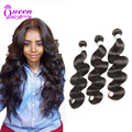 Indian Virgin Hair Body Wave 3 Bundle Raw Indian Hair Unprocessed Indian Body Wave Remy Human Hair Weaves Indian Hair Bundles