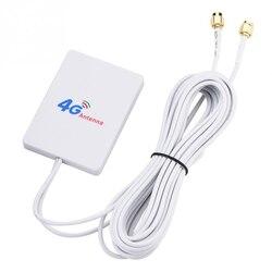 Внешний 28DBI белый LTE антенный Кабельный разъем SMA 4G 3G усилитель сигнала вертикальный WIFI сетевой широкополосный TS-9 Мобильный маршрутизатор