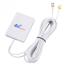 External 28DBI White LTE Antenna Cable Connector SMA 4G 3G Signal Ampl