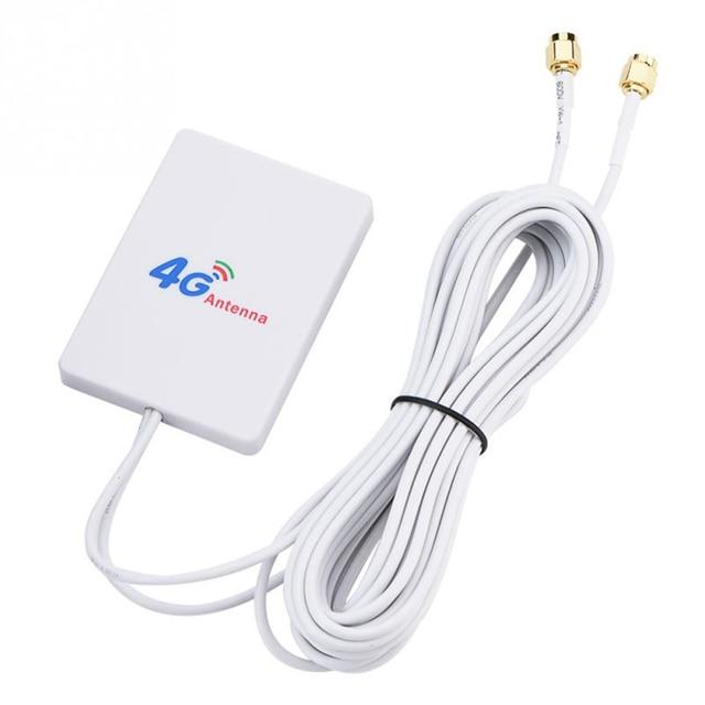 Zewnętrzny 28DBI biały kabel antenowy LTE złącze SMA 4G 3G wzmacniacz sygnału pionowa sieć WIFI szerokopasmowy TS 9 mobilny Router