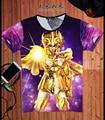2016 New Style Anime Saint Seiya T-shirt  sleeve Fashion Cartoon T shirt Bronze Saints Casual Men Tees