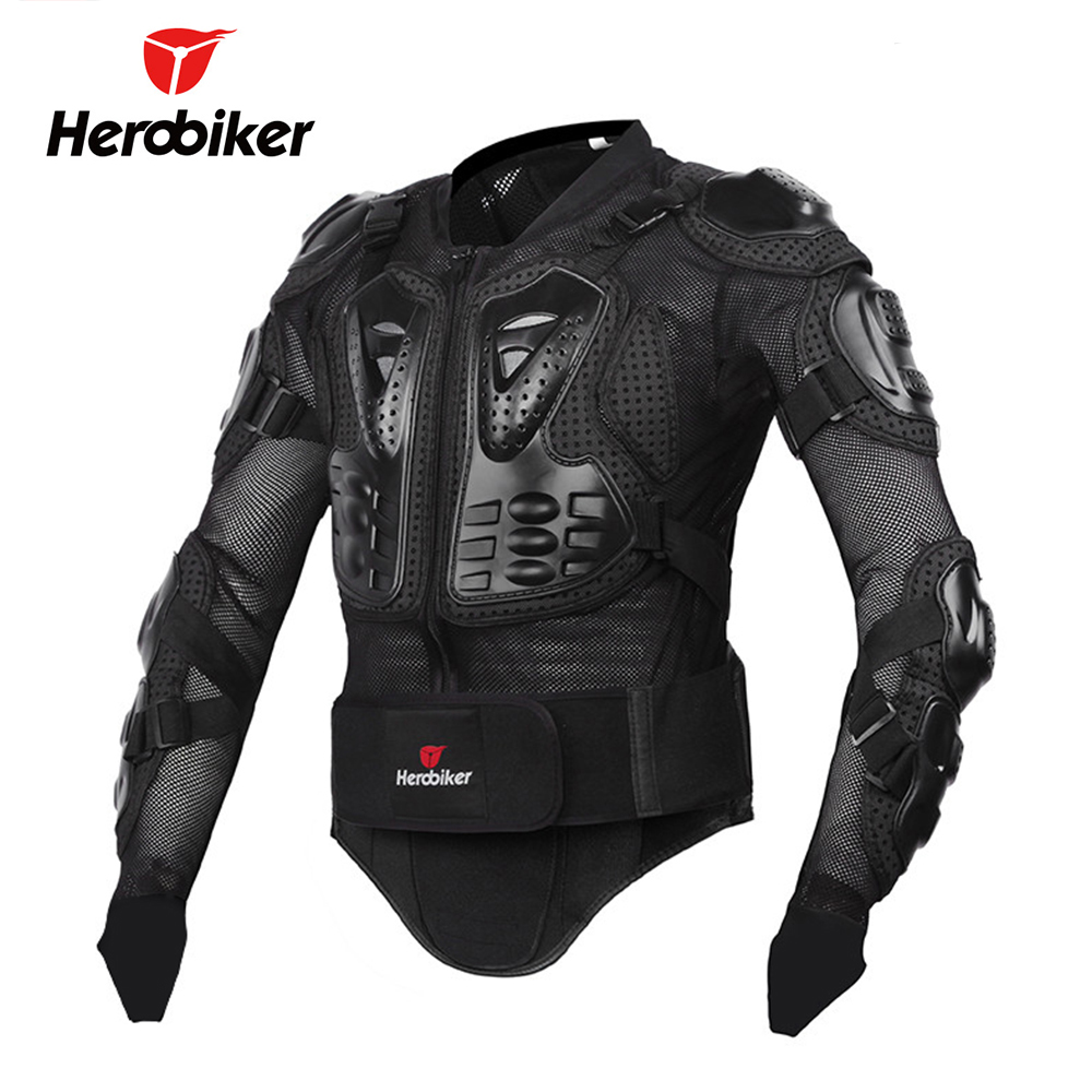 HEROBIKER Motorcycle Armor Protective Gear Motorcycle Jacket Body Armor Racing Moto Jacket Motocross Clothing Protector Guard herobiker motorcycle protection motorcycle armor moto protective gear motocross armor racing full body protector jacket knee pad