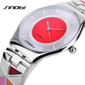 Sinobi relógios mulheres 2016 nova marca de luxo relógios senhoras cinta de aço fina pulseira relógios Reloj Pulsera Mujer AA081
