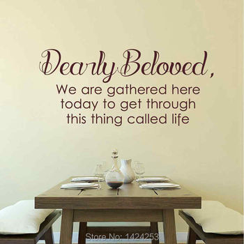 BATTOO Large Wall Decals Prince Lyrics Stickers -early beloved we are gathered here today to get through this thing call Life hearth