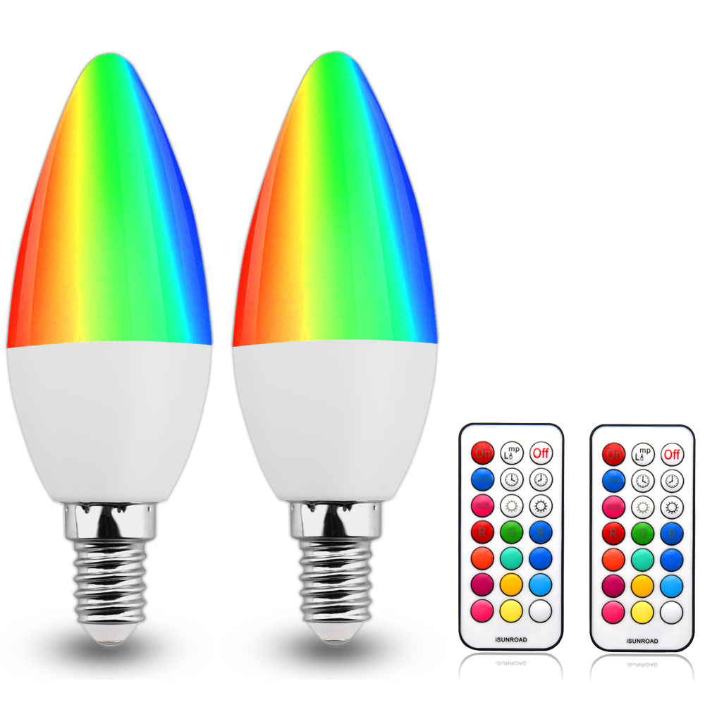 Led Bulbs Rgb Led Bulb E27 E14 16 Color Changing Light Candle Bulb Rgb Led Spotlight Lamp Ac85 265v E12 E14 E26 E27 B22 Rgb Light 3w C35 E12 Color Changing Led Candelabra Bulbs Warm White Colorful Light Bulb Candle Base Rgbw Led