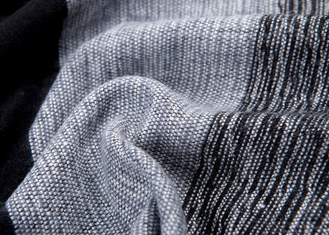 Striped Cashmere Men's Scarf
