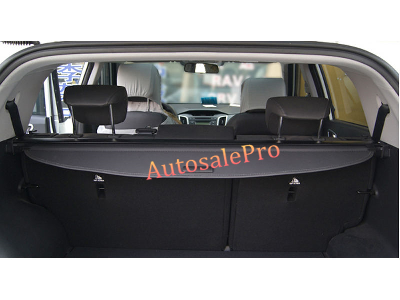 for Hyundai Santa Fe LWB 7 Seats Pass 2013 2014 2015 2016 Rear Trunk Security Shade Black Cargo Cover Shield car rear trunk security shield shade cargo cover for hyundai creta ix25 2014 2015 2016 2017 black beige
