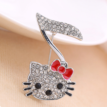 Hello Kitty Musical Note Brooch