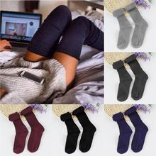 Women Thigh High Stockings Over Knee Slouchy Knit Crochet Warm Stockings Long Thigh High Over Knee Socks tights Hosiery