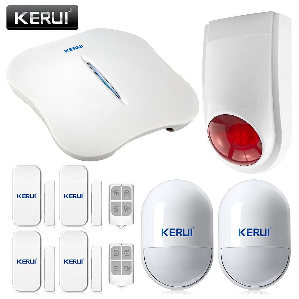 W1 Wireless Alarm Systems Security Home WIFI PSTN Alarm System with Wireless Siren and Smoke Detector Control by APP