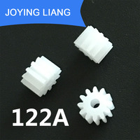 122A 0.5M GEARS 2MM Tight Hole Dameter 12 Teeth Module 0.5 Plastic Gear DIY Toy Accessories 5000pcs/lot