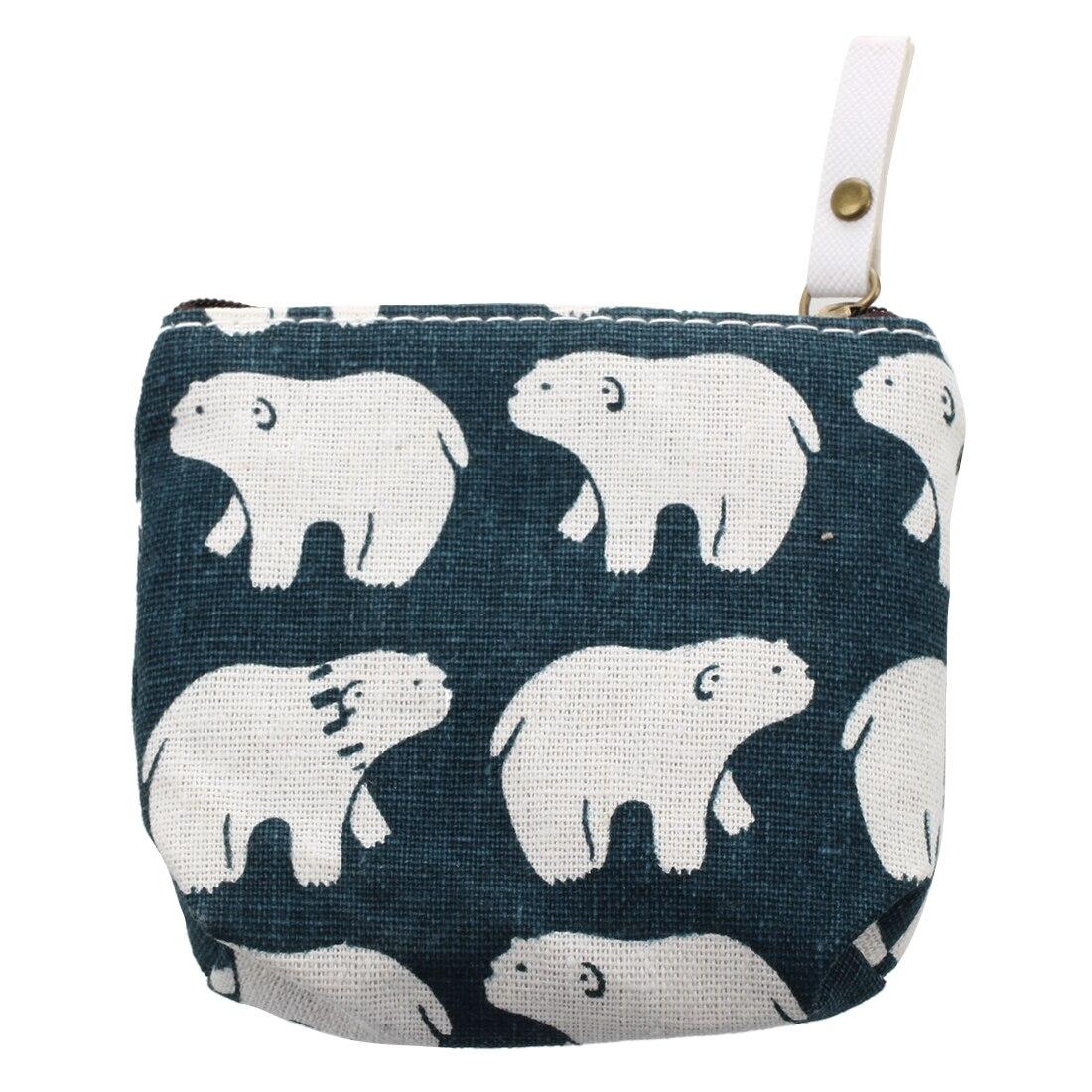 TEXU Cute Cartoon Animals Canvas Coin Purse women kids Key Wallet Mini change Bag Gift