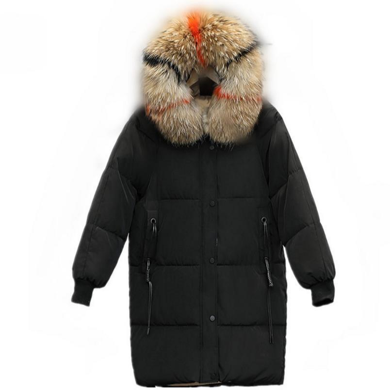 fur winter coat thickened   parka   women long   parka   down jacket women