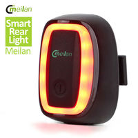 Smart Bicycle Taillight Light Bike LED With Light And Vribration 7 Modes 4 Color