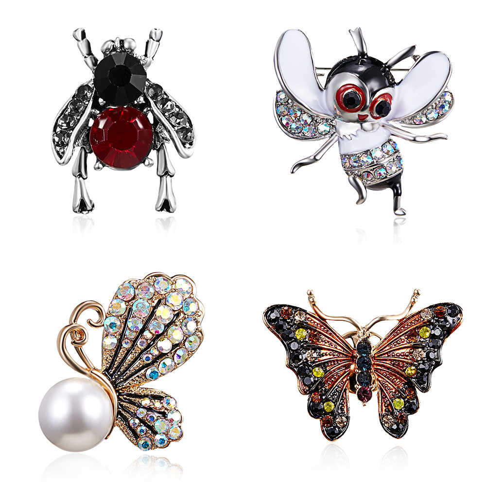 fbfd1ad5332 Rinhoo 2018 Vintage Simulated Pearl Bee Pin Brooch Antique Pin Women Brooch  Pin Costume jewelry Free