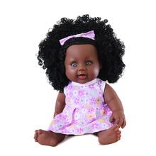 30cm Black Realistic Silicone Reborn Dolls for girls Soft doll new born baby Christmas Birthday Lifelike Baby reborn