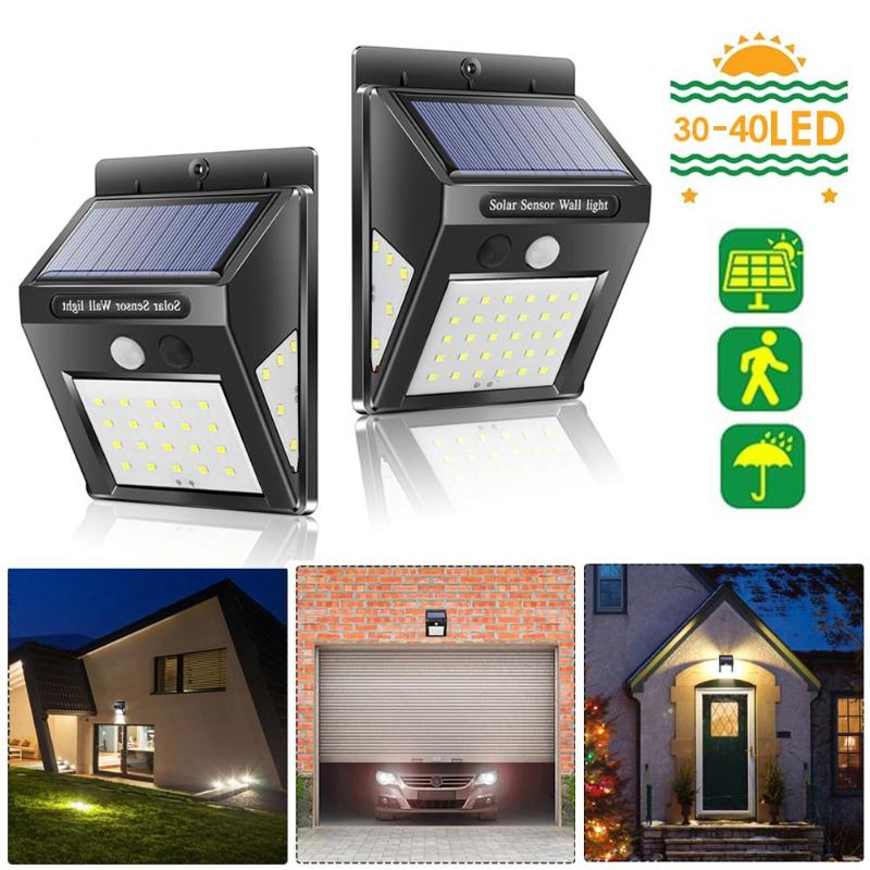 20/30/40 LED Outdoor Solar Light Dual Detector Motion Sensor Security Lighting Waterproof Street Wall Garden Yard Wall Lamp