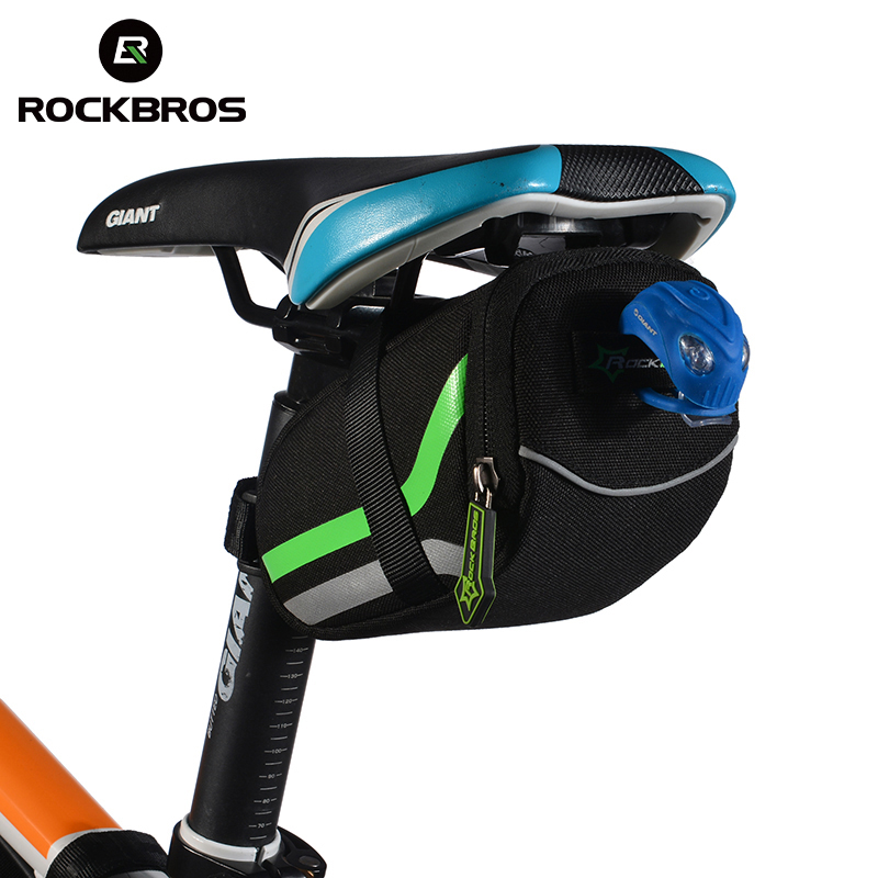 ROCKBROS Outdoor Cycling Mountain <font><b>Bike</b></font> <font><b>Back</b></font> <font><b>Seat</b></font> Bicycle Rear <font><b>Bag</b></font> Nylon <font><b>Bike</b></font> Saddle <font><b>Bag</b></font> Bicycle Accessories Tail Pouch Package image