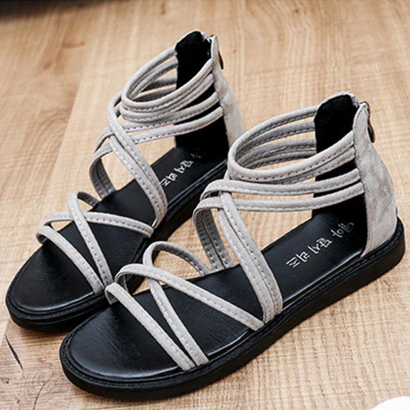 women Sandals Women Flat Shoes Bandage Bohemia Leisure Lady Casual Sandals Peep-Toe Outdoor Chaussures Femme 2018 hot sale 22