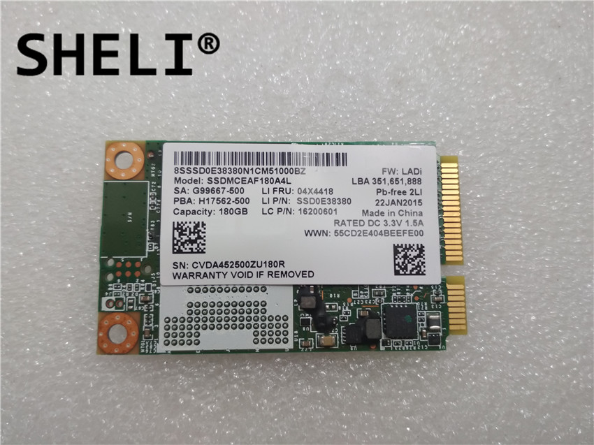 SHELI For Lenov <font><b>Intel</b></font> SSD MCEAF180EA 180G 180GB 04X4418 image