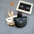 Fashion kids gifts messenger bags Kawaii cartoon rabbit shoulder bags PU handbags unisex baby toddler girls boys crossbody bags