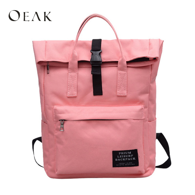 Oeak High Quality New Fashion Women's Canvas Backpack School bag For Girls Best Travel Backpack цена