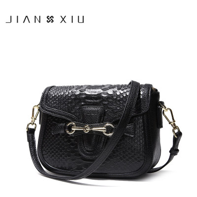 0010 JIANXIU Fashion leather handbags spring and summer new shoulder Messenger bag head cowhide crocodile pattern small square 2016 fashion spring and summer crocodile pattern japanned leather patent leather handbag one shoulder cross body bag for women