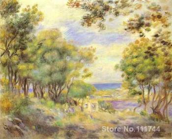 modern art paintings Landscape at Beaulieu  hand painted art by Pierre Auguste Renoir High quality