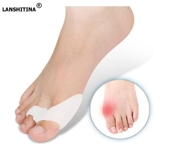 Orthotic Insole Hallux Valgus Ortopedicas Toe Separator Orthopedic Insoles Plantillas De Gel Silicone Gel Cushion Shoe Inserts