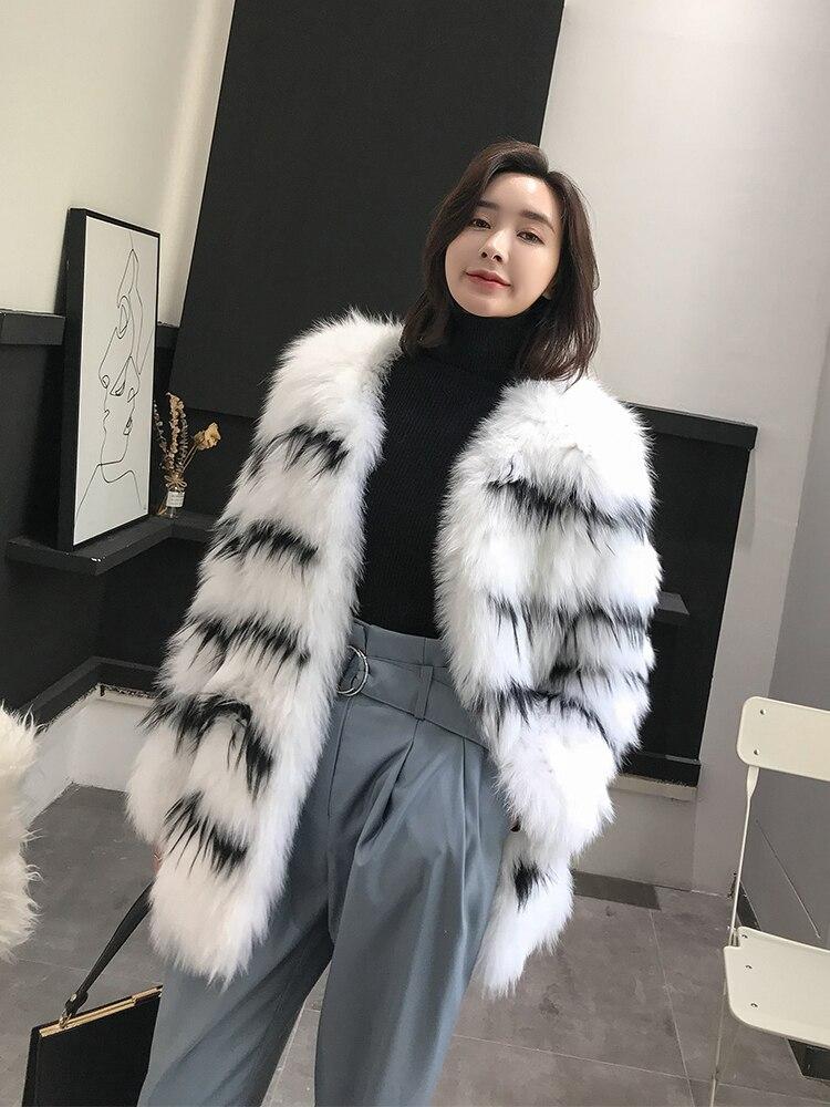 Automne Manteaux De Coréenne Femmes Veste Vêtements My1100 White Hiver 2018 Fourrure D'hiver Chaud Long Femme Réel Renard Vintage Manteau FBwx7pCwPq