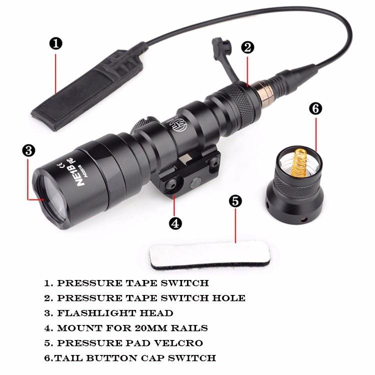 Elemento airsoft surefir m300aa armas luz gunflashlight
