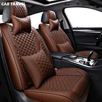 CAR TRAVEL pu leather car seat cover for fiat palio peugeot 508 toyota auris kia rio 2 3 camry 50 alfa 147 car seats protector